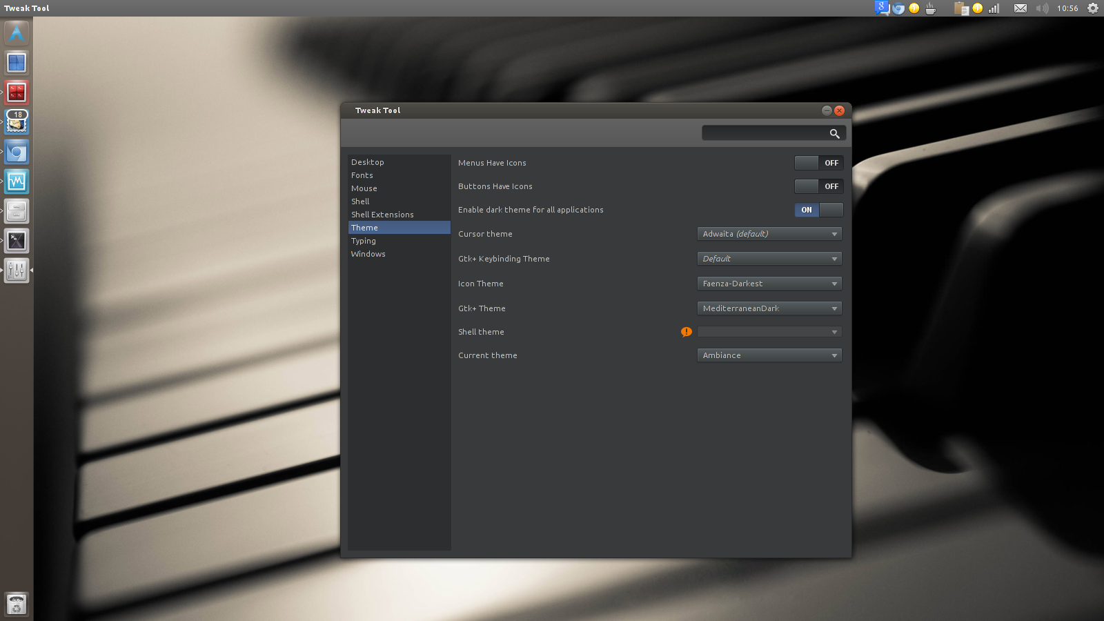 GTK theme settings